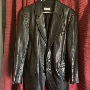 Vintage 42 RegGIORGIO ARMANI LEATHER Mens Blazer